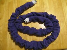 Fleece insulating CPAP BiPAP hose cover polyester for 6-9 foot long hose purple