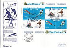 BUSTONE FDC SAN MARINO CAPITOLIUM 1994 FOGLIETTO LILLEHAMMER  FIRST DAY COVER