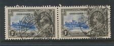 GOLD COAST 1935 SILVER JUBILEE PAIR CANCELLED by RAILWAY TPO WESTERN 1