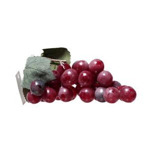 Artificial Medium Grape Cluster 6-inch Plastic Decorative Grapes Fake Green Red