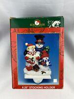Christmas Stocking Holder Hanger Hook RESIN SNOWMAN Kurt S Adler New York NY