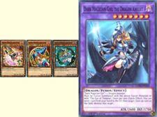 4_DIFERENT ARTWORKS Dark Magician Girl Ultra YGLD-ENB03 LEDD* Girl Dragon Knight