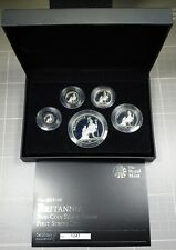 2013 Britannia Proof Silver 1, 1/2, 1/4, 1/10, 1/20 oz 5-Coin Set