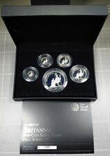 2013 Britannia Proof Silver 1, 1/2, 1/4, 1/10, 1/20 oz 5-Coin Set