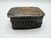 Western Eagle Feather Sheriffs Badge Trinket  Box Hand Painted New