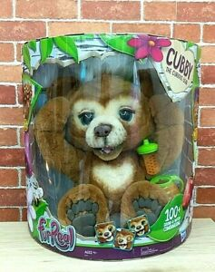 FurReal Cubby the Curious Teddy Bear Electronic Interactive Pet Plush Toy NEW