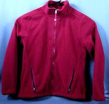LL Bean Windproof Soft POLARTEC Fleece Jacket Womens Medium Full Zip Burgundy