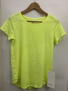 Lululemon Love Crew Tee *Fade NWT Size 2 4 6 8 SITY Highlight Yellow Pima Cotton