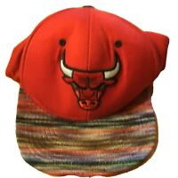 Mwns Chicago Bulls Mitchell & Ness Adjustable Snapback Hat Red NBA Basketball