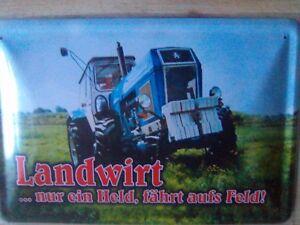 Ford Fordson Tractor Traktor Blechschild Stabil Flach Neu aus GB 15x20cm S5211