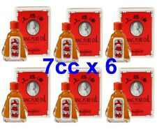 6 Siang Pure Red oil to Relieve muscle aches Tension cramps Insect size 7cc.