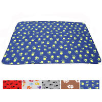 Soft Cosy Warm Fleece Paw Print Pet Blanket Dog Puppy Cat Beds Mat Thrown M L
