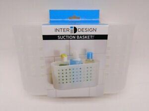 iDesign Basic Suction Shower Shelf, Shower Organiser