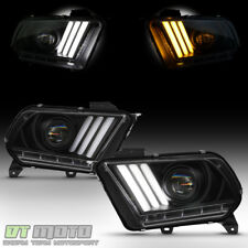 [HID/Xenon] Blk 2013-2014 Ford Mustang LED Sequential Tube Projector Headlights