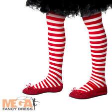 Santa Striped Tights Girls Fancy Dress Christmas Childrens Kid Costume Accessory