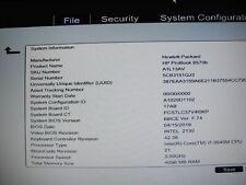 HP ProBook 6570b Core i7-3540M 3.00GHZ 4GB RAM