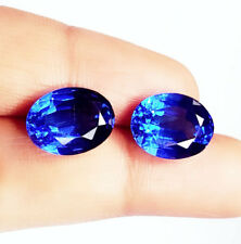 Natural Blue Sapphire Loose Gemstone 7 to 8 cts 2 Certified Pairs Best Offer