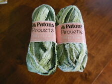 LOT OF 2 PATONS PIROUETTE RUFFLE SCARF YARN 3.5 OZ 24 YDS SPRING GREEN