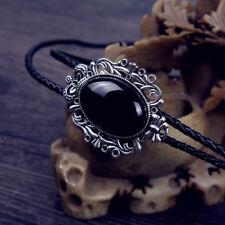 257eea16de37 Vintage Western Cowboy Male Jewelry Rodeo Mens Neckwear Opal Tie Leather