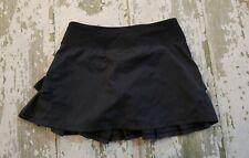 IVIVVA by Lululemon Black PACESETTER Ruffled Tennis Skort Skirt Run Gym Size 12