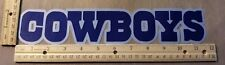 "HUGE DALLAS COWBOYS IRON-ON PATCH - 2.25"" x 11.75"""