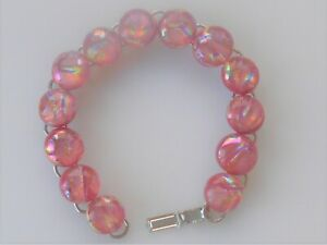 """fused 8""""  dichroic glass bracelet hand made crafted"""