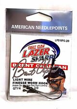 Eagle Claw Lazer Sharp 2/0 Light Wire Finesse Worm Fishing Hooks (#LPS18PG-2/0)