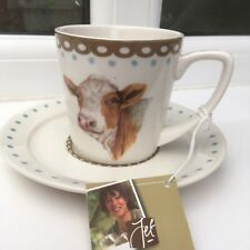 Demitasse/Espresso Cup & Saucer. Happy Cow By Jet, Ter Steege. Netherlands.