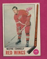 1969-70 OPC # 60 RED WINGS WAYNE CONNELLY  VG CARD (INV#3118)