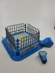WWF Mini or Micro Ring WRESTLEMANIA with launcher and cage 1997 jakks blue