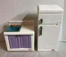 Vintage Little Tikes Big Dollhouse Kitchen Sink & Refrigerator Barbie Size