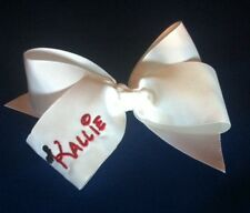 """Personalized Boutique Hair Bow ~ 6"""" ~ Red Ribbon ~ Monogramed"""