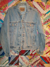 Gap Blue Jeans Denim Jacket Size Large Distress L