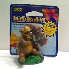 Penn Plax Mini Replica Hippo with No Swimming Sign, #RR862