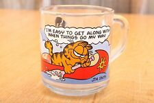 Garfield Glass Mug Cup I'm Easy To Get Along When Things Go My Way McDonalds