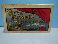 RARE VINTAGE PIPER HEIDSIECK CHEWING TOBACCO EMPTY 12 OZ. BOX - CHAMPAGNE FLAVOR