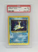 Mint Lapras Holo Fossil Set Collection 10/62 Original Pokemon Card Classic PSA