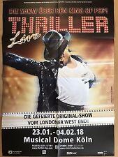 MICHAEL JACKSON - THILLER 2018 - orig.Concert Poster - Konzert Plakat A1 - F/N