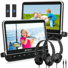 "10.1"" 2 Car DVD Player Monitor USB AV IN/OUT HDMI with Headrest Mount Headphones"