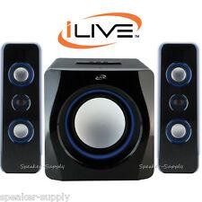 Ilive CineBlue Bluetooth Wireless 2.1 Speaker System Home Theater LED IHB23B