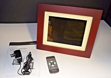 "Insignia 8"" Digital Photo Frame Espresso Wood Finish"