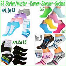 12P Damen Quarter Sneaker Socken Kurzsocken Sportsocken Füßlinge Sneakersocken