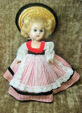1956 VOGUE GINNY STRAIGHT LEG WALKER DEBS DOLL IN ORIGINAL OUTFIT