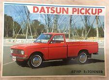 Mint Vintage 60s Datsun Pick Up 67 HP 1 Tonner Nissan Sales Brochure Advertising