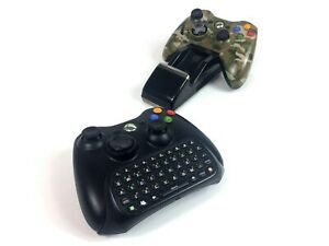 Xbox 360 Charger Dock 2 Nyko Battery Packs with 2 Controllers & Chatpad Bundle