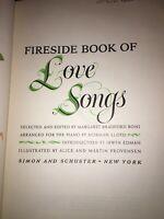 THE FIRESIDE BOOK OF LOVE SONGS - HARD COVER  - BONI  LLOYD PROVENSEN - 1954