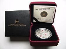 2011 Proof $20 Crystal Snowflake #11-Hyacinth Canada .9999 silver twenty dollars
