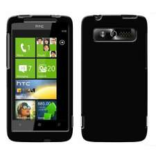 AMZER BLACK INJECTO SNAP ON HARD SHELL BACK CASE COVER FOR HTC 7 TROPHY