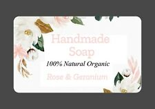 21  PERSONALISED GLOSS  HAND MADE SOAP BATH BOMB LABELS CRAFT FLORAL  STICKERS