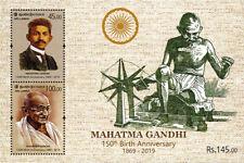 Sri lanka stamps Mahatma Gandhi 150th Birth Anniversary 2019 MS